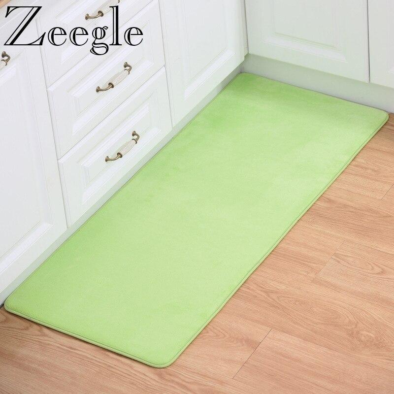 Us 6 7 33 Off Zeegle Kitchen Besides Mat Modern Hallway Rugs Thick Door Mats Large Size Carpet Bathroom Anti Skid Floor Area In