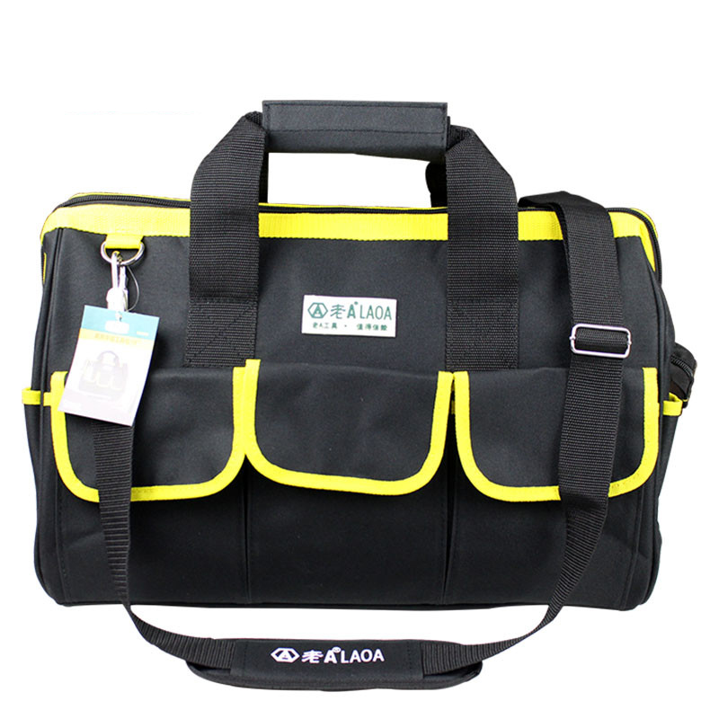 1pcs LAOA 600D Messanger Tool bag Large capacity  Repair tool kit bags storage for Electricians Tools laoa shoulders backpack tool bag multiction oxford fabric electrician bags knapsack for eletricista tools storage