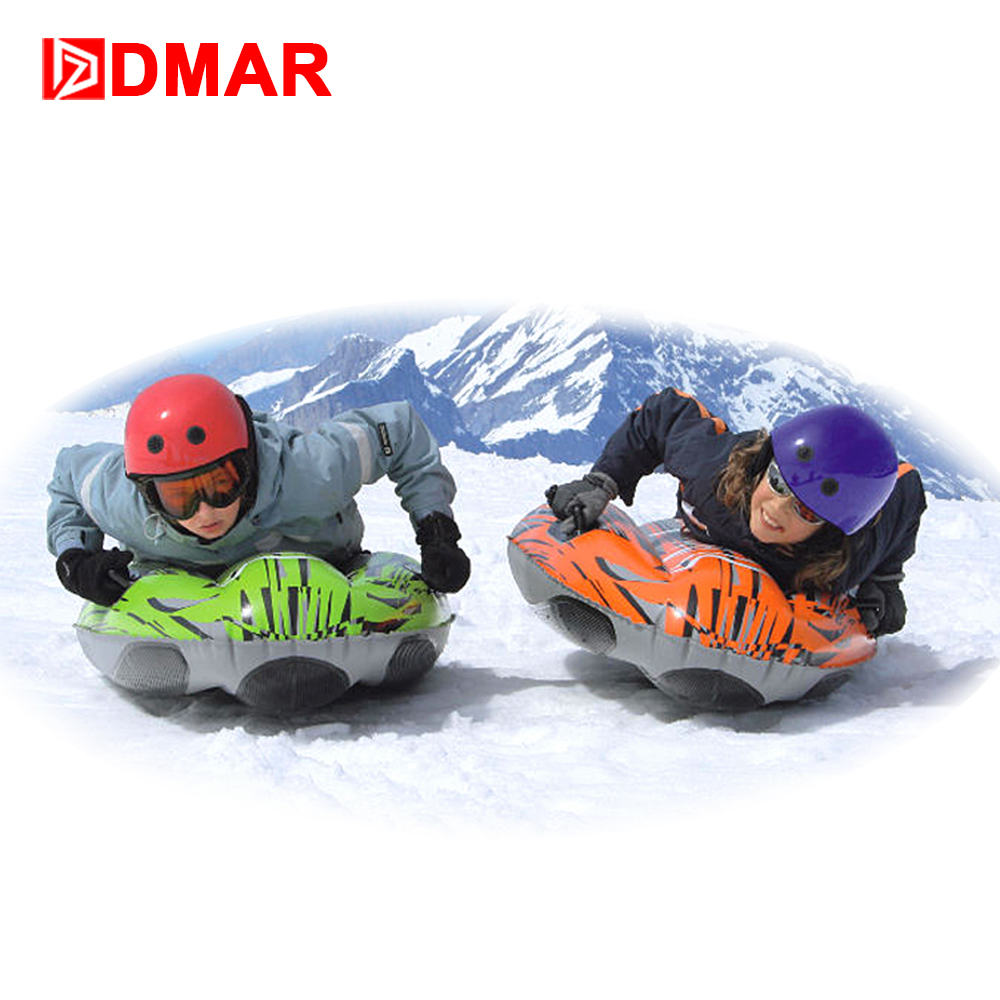 DMAR Inflatable Snow Tube For Adults Kids Skiing Sled Ski Board With Handle Snow Tire Slippery Grass Sand  Float 2018 Winter NEW 3m diameter blow up snow ball inflatable snow globe inflatable human size snow globe balloons for chirstmas decoration
