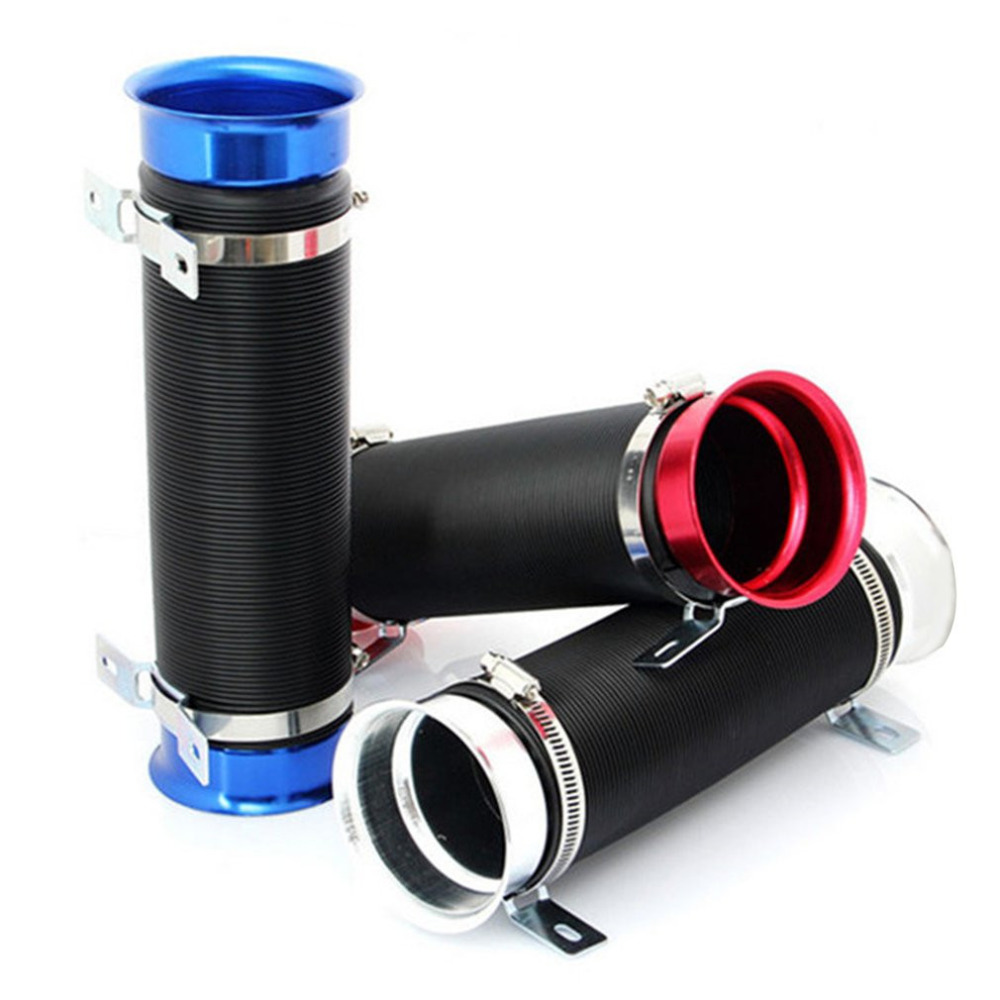 Car Modification Supplies Telescopic Tube Ventilation Tube Flexible Intake Air Pipe 76MM Expandable Cold Air Intake Kit Hot Sell