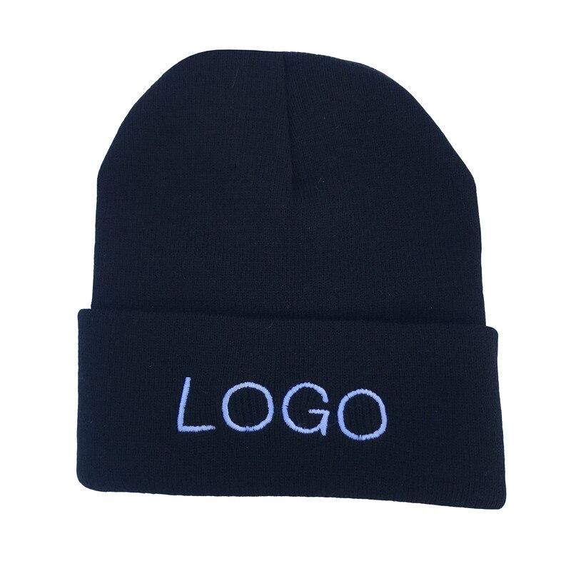 カスタムロゴ帽子キャップ刺繍テキスト印刷名チーム集団 diy の手紙女性の冬のニット帽メンズ  グループ上の アパレル アクセサリー からの スカリー & ビーニー帽 の中 1