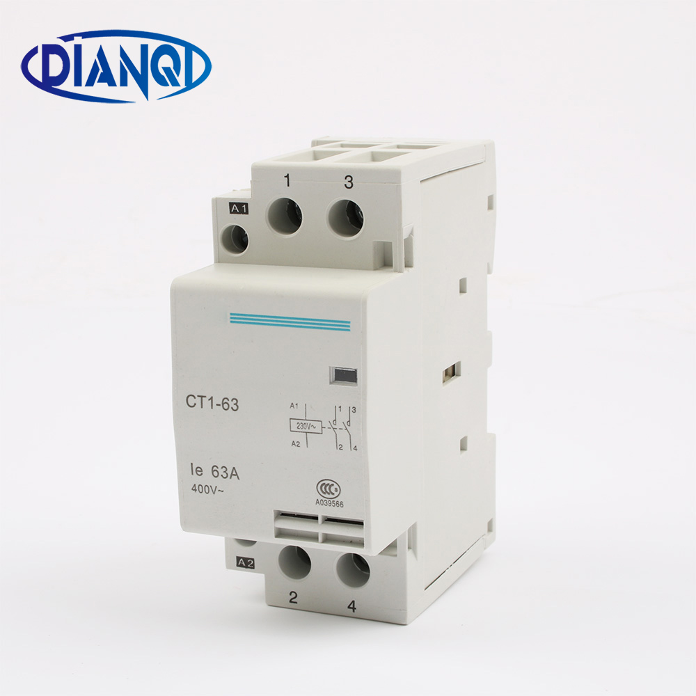auxiliar de partida 40A 32A CT1 CT1-63 63A 2P 220V 230V 50or60HZ Din rail Household AC Contactor Starter