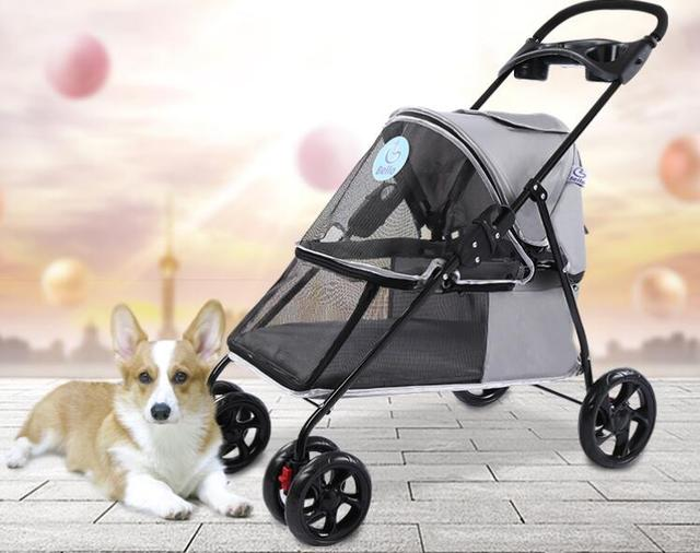 US $179 55 5% OFF|Portable Pet Stroller Folding dog cart dog trolley-in Dog  Carriers from Home & Garden on Aliexpress com | Alibaba Group
