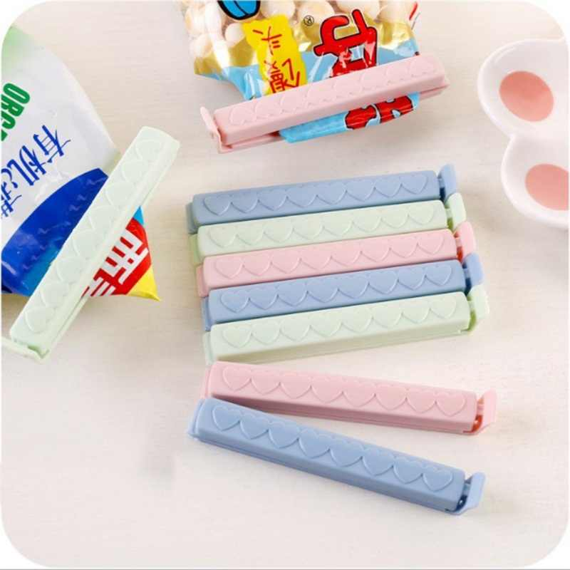 12pcs/lot 5pcs/lot Food Snack Storage Sealing Seal Bag Clips Sealer Clamp Food Bag Clips Kitchen Tool Home Food Close Clip Seal
