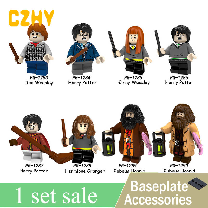 New Hot Harry Series Potters Dumbledore Ron Ginny Weasley Rubeus Hagrid Hermione Granger Building Gift Toys Legoe PG8161