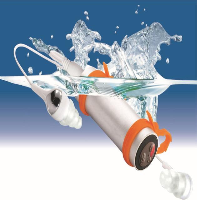 مقاوم للماء مشغل MP3 سماعة راديو اف ام للسباحة الغوص تحت الماء الرياضة MP3 مشغل موسيقى 4G/8G اختياري