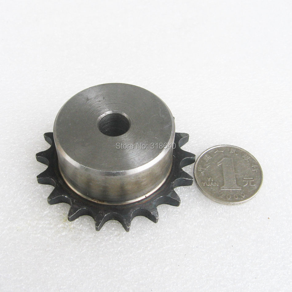 06B 18T 18Teeth Pitch 9.525mm 3/8 Bore 10mm Industry Transmission Drive gear Single Sprockets mechanical parts for roller chain 40 sprocket 20 teeth bore 5 8 pitch 1 2 industry transmission drive gear 08a sprocket for go kart roller chain