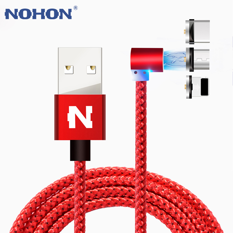 NOHON 3 <font><b>IN</b></font> <font><b>1</b></font> Magnetic USB Charging <font><b>Cable</b></font> Fast Charger For iOS iPhone iPad <font><b>Samsung</b></font> Xiaomi Android Magnet 8Pin Micro Type C <font><b>Cable</b></font> image