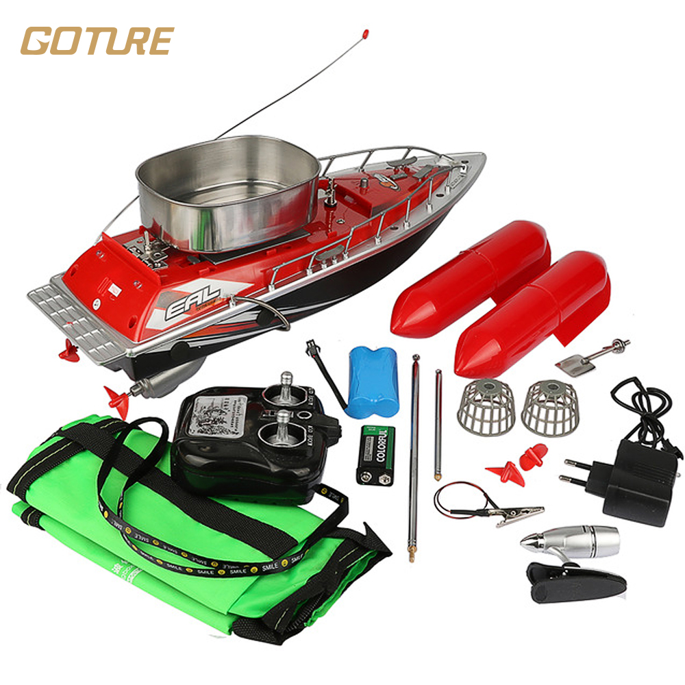 Goture Mini RC Bait Fishing Boat 200M Remote Fish Finder Boat Fishing Lure Boat 5 8 Hours 3 Color Can Choose rc boat clutch