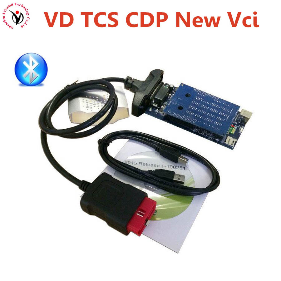 Quality A+VD TCS CDP OBDII Scanner 2014.2 Or 2015.R1(Best PCB Chip) With Led Light Diagnostic Tools for Most Cars Trucks Vehicle
