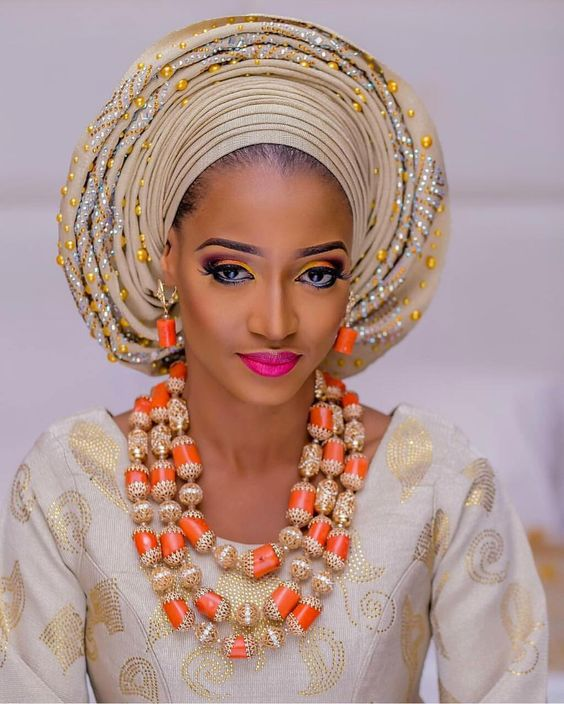Beautiful Coral Beads Wedding Bridal Jewelry Set Handmade Nigerian Costume African Statement Necklace Set Free Shipping QW749 цена