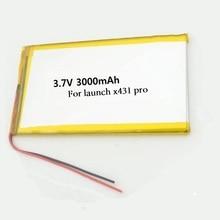 цены на 3000mAh Replacement Battery for Launch X431 Pro Auto Diagnostic Tool Bateria 3.7V Li-po Lithium Polymer Rechargeable Accumulator  в интернет-магазинах
