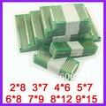 8 unids 9*15 8*12 7*9 6*8 5*7 4*6 3*7 2*8 cm de Cobre de doble Cara PCB Prototipo Junta Universal
