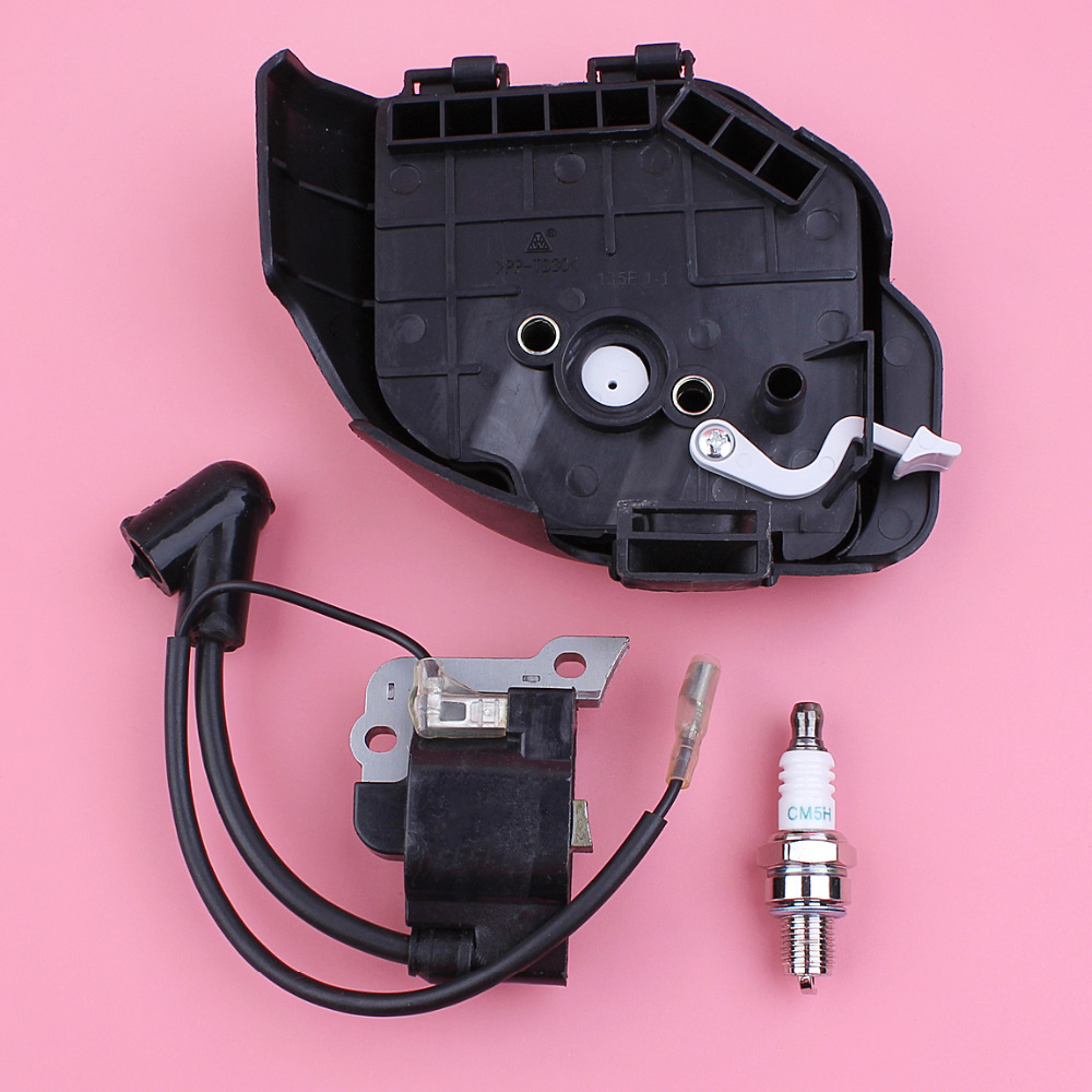 Air Filter Cover Ignition Coil Spark Plug Kit For Honda GX25 GX 25 Lawn Mower Blower Trimmer Engine Spare Part