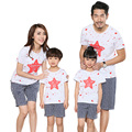 Parent-child outfits summer 2016 new family clothos sets sports mother daughter children family look T shirts + Pants Outfits