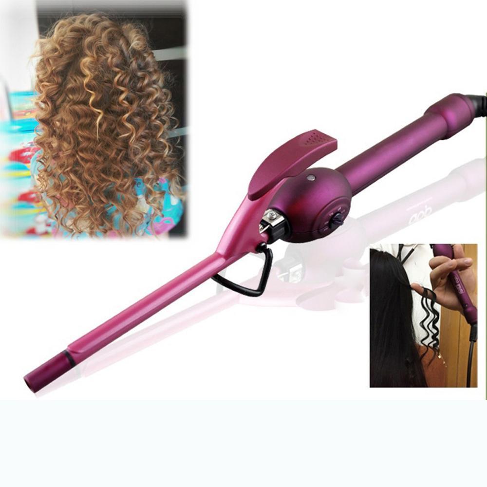 Mbhair profissional 9mm curling iron cabelo curler ferros curling wand rolo krultang magia carebeauty ferramenta de estilo do cabelo