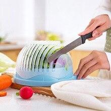 60 Seconds Salad Cutter Bowl Kitchen tool Gadget Vegetable Chopper Cutter Quick Salad Maker Chopper Kitchen Accessories