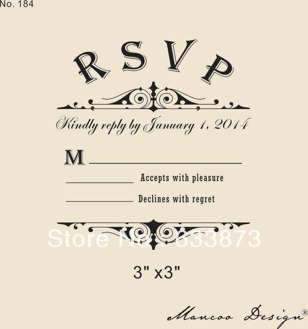 Custom Rsvp Rubber Stamp To Create Response Cards Wedding