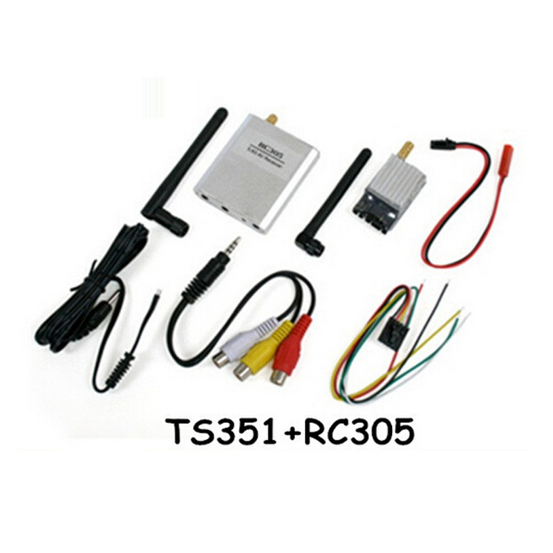 Boscam TS351+ RC305 FPV 5.8G 200mW AV Wireless TS351 Transmitter and RC305 Receiver Set 2Km Range  TS351+RC305 Free Shipping все цены