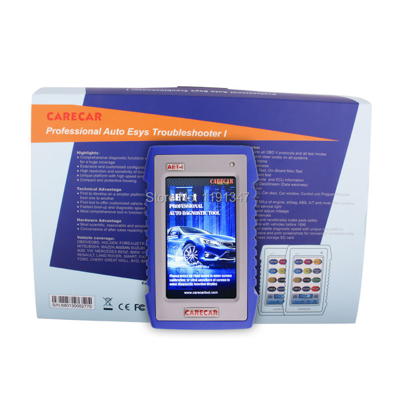 For BENZ For Mercedes Professional OBD2 Diagnostic Scanner tool ABS Code Reader Carecar AET I