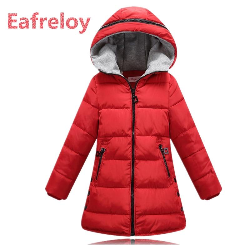 Autumn Winter jacket for girls clothes Cotton Padded Hooded Kids Coat Children clothing girl Parkas enfant Jackets & Coats