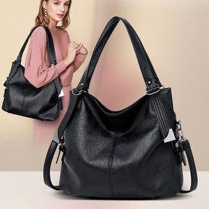 Image 1 - 2020 популярная роскошная сумка, женские сумки, высокое качество, кожаные сумки через плечо, женская сумка тоут, большая емкость, женская сумка на плечо, Sac A Main