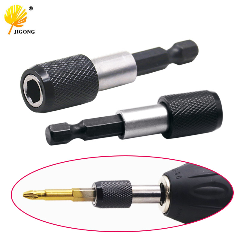 6.35mm 1/4 Hex Shank Quick Release Electric Drill Magnetic Screwdriver Bit Holder 60mm