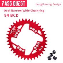 PASS QUEST OVAL 94BCD MTB Bicycle Chain Wheel Crankset Narrow Wide Bike ChainWheel 32T/34T/36T/38T pass quest 94bcd titanium plated mtb narrow wide chainring chain ring 32t 34t 36t 38t 40t bike chainwheel chain wheel crankset