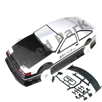 2pcs/lot AE86 GT APEX 1/10 1:10 PVC painted body 190MM wheelbase shell 1/10 RC hobby racing car for hsp hpi tamiya yokomo mst