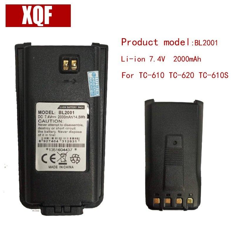 Original BL2001 LI-ON 7.4V 2000mAH Battery for Hytera HYT Radio TC-610,TC-618,TC-620,TC-626,TC-610P TC-610S Walkie Talkie