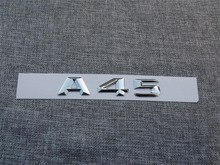 ABS Plastic Car Trunk Rear Letters Badge Emblem Decal Sticker for Mercedes Benz A Class A45