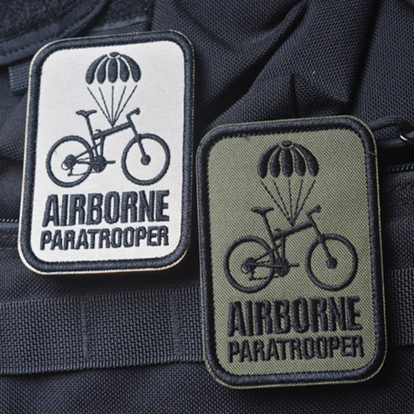 High Quality AIRBORNE Paratrooper Embroidery 3D Badge Badge Morale Military Armband Tactical Badge 6 5 8