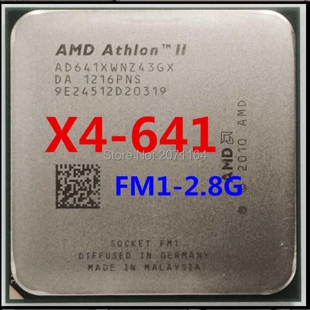 Бесплатная доставка AMD Athlon II X4 641 quad-core FM1 2.8 Г 100 Вт APU рабочего ПРОЦЕССОРА