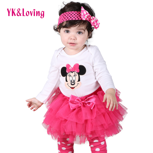 Summer Clothes Princess Style Newborn Long sleeve baby Romper+Tutu Dress+Polka Dot Leg Warmer Toddler Girls Clothing Baby Sets