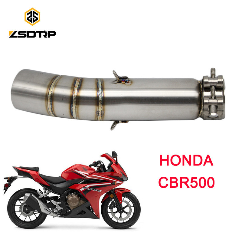 2018 new ZSDTRP Motorcycle Modifiy exhaust pipe case for honda CBR500 racing motor model Stainless steel material2018 new ZSDTRP Motorcycle Modifiy exhaust pipe case for honda CBR500 racing motor model Stainless steel material