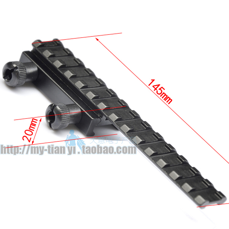 11mm/10mm To 20mm Extensible Scope Bases Mount Sporting Picatinny Weaver Rail Scope Mount Width