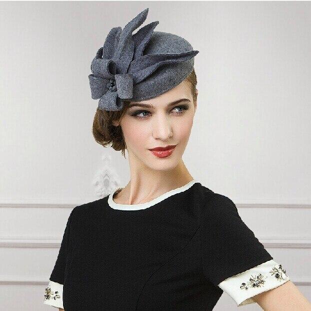 9124def0c5723 100% lana australiana americanos europeos lujos sentían el casquillo del  sombrero mujeres hueso de moda