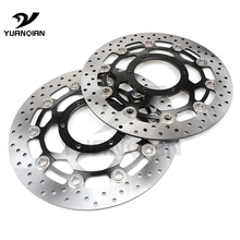 цена на CNC Motorcycle Front Floating 310mm Brake Disc Rotor & Rear Brake Disc Rotor For Honda CB1300 2003-2010 CBR 600 2003-2006