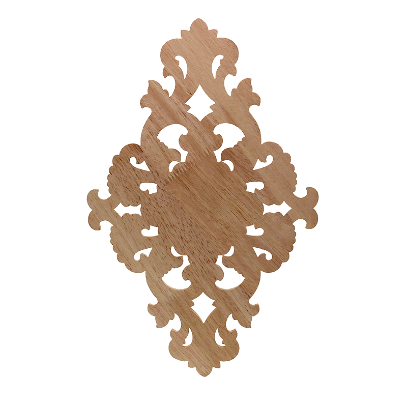 VZLX Vintage Floral Wood Carved Corner Applique Wooden Carving Decal for Furniture Cabinet Door Frame Wall Home Decor Crafts in Figurines Miniatures from Home Garden