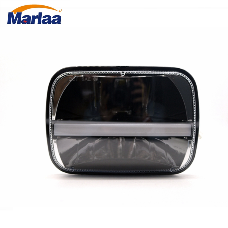 Marlaa 5x7 Projector 7x6 LED Headlight DOT for Jeep Cherokee XJ Wrangler YJ Comanche MJ H6054 H5054 H6054LL 69822 6052 6053 marlaa 7x 6 5 x 7 inch black projector led headlights for jeep wrangler yj cherokee xj h6054 h5054 h6054ll 69822 6052 6053