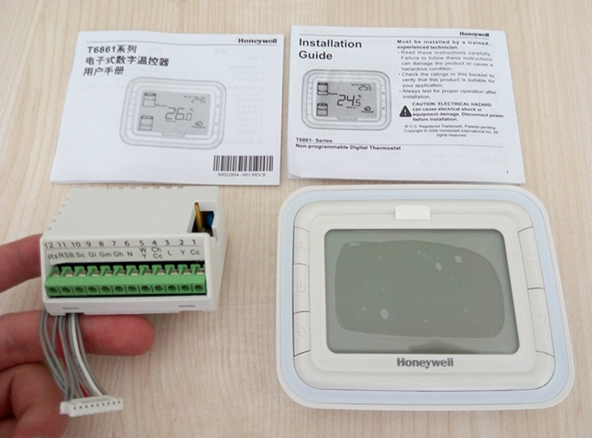 Digital HoneyWell Air Conditioner Room Thermostat Digital LCD Screen Fan Coil Unit Thermostat T6861H2WB