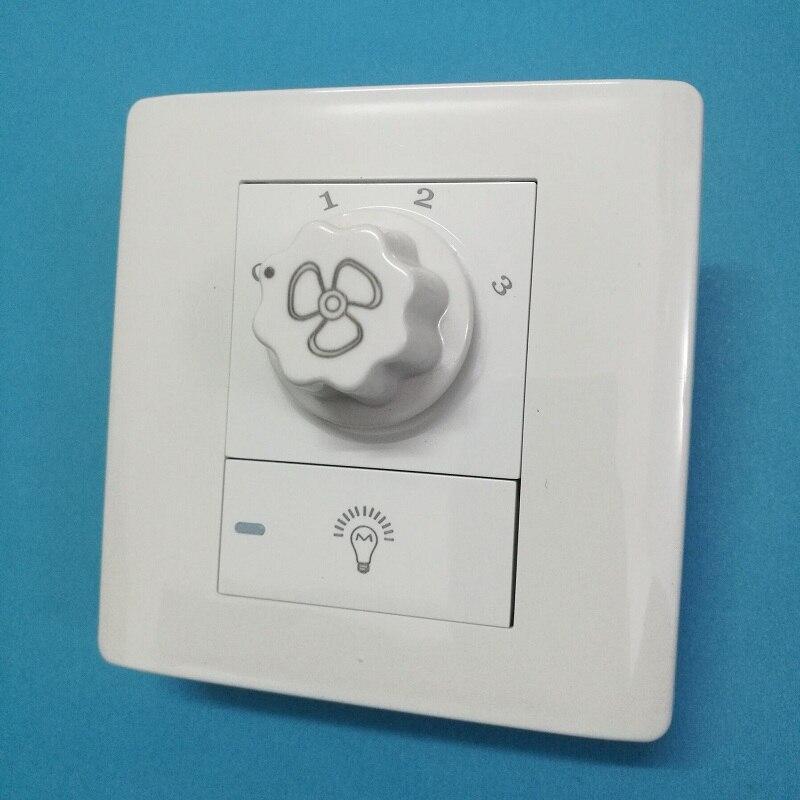 Fans Chandelier 86 Wall switch / Fan Speed Controller / Ceiling Fan light Power Switch AC220V стоимость