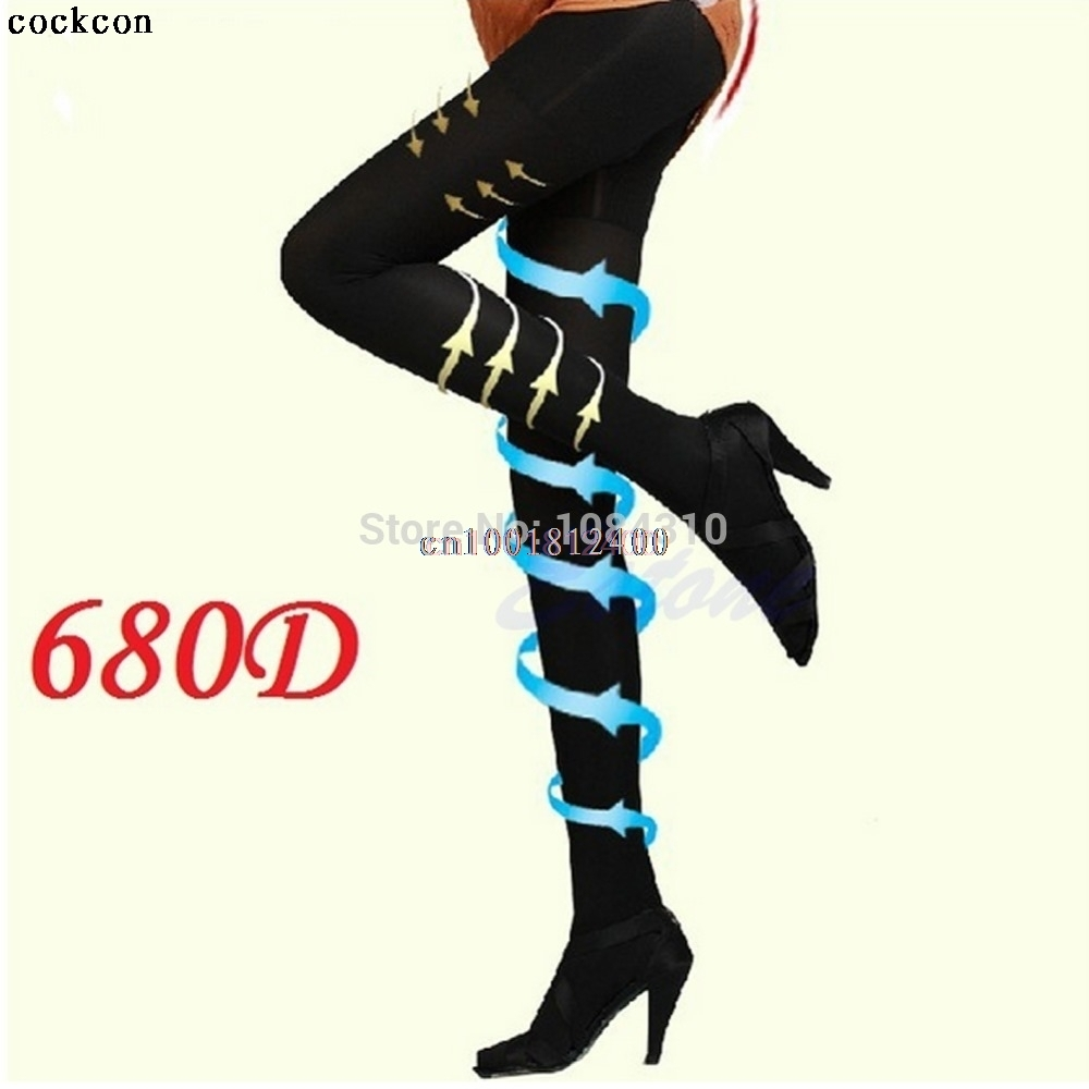Beauty Leg Shape Compression Burn Fat Thin Socks Pantyhose Women Slim