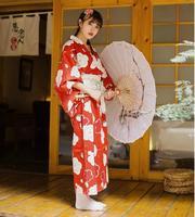 2017 Japanese style kimono dress Sakura clothes Improved kimono