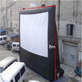 2017 Hot Selling Event Advertising Inflatable Screen, OEM Design Available,New Fashion Movie Screen(9*8m)