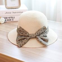 Verano nuevo patrón sombrero de paja coreano gracia Bow paja sombrero usted  Ma am vacaciones protector solar sol del verano del . 48f7c97c696