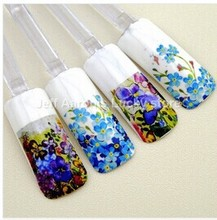 2018 Water transfer nail polish stickers decals for nail art tips decorations tools Beauty flower design 12pcs/lot beruty