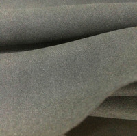 High Quality 0 7mm Thickness Black Microfiber Super Fiber Double Plush Upholstery Suede Ultra Fabrics Raw