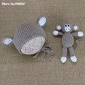 New Baby Monkey Hat Newborn Knit Hat Knit Monkey Hat Baby Boy Photo Prop Baby Girl Photo Prop Monkey toy