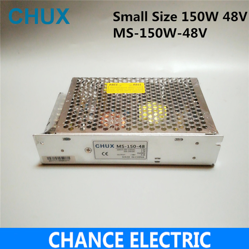 150W 48V 3.2A Small Volume Single Output Switching power supply for LED Strip light AC to DC(MS-150-48)  free shipping allishop 300w 48v 6 25a single output ac 110v 220v to dc 48v switching power supply unit for led strip light free shipping